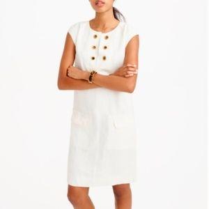 J Crew Linen White Shift Dress